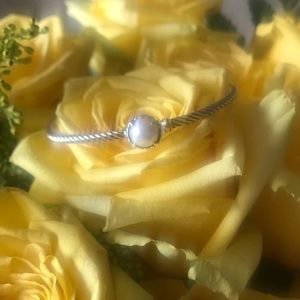 David Yurman Pearl Bangle Bracelet